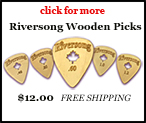 Riversong unique wooden guitar picks