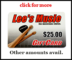 Lee's Music Gift Card in any denomination