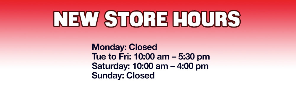 Lee's Music new hours 2019